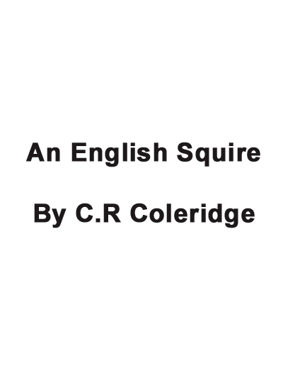 An English Squire