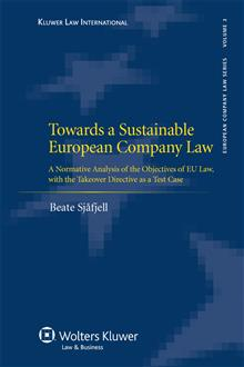 Towards a Sustainable European Company Law